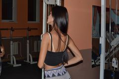 Sportgirl fotografie stock