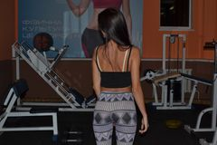 Sportgirl. At the gym Royalty Free Stock Photos