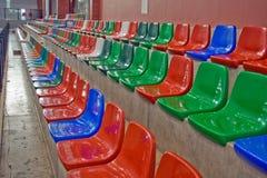 Sporthall seats Stock Photography