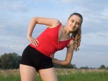 Sportief meisje Royalty-vrije Stock Foto's
