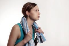 Sportief meisje klaar voor training Royalty-vrije Stock Afbeelding