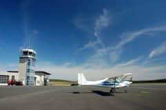 Sportief vliegtuig stock fotografie