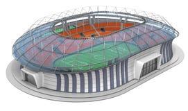 Sportief voetbalstadion met transparant dak Stock Foto