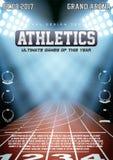Sportieve affiche van atletiek vector illustratie