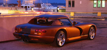 Sportieve Amerikaanse Auto Stock Foto's