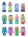 Sportieve en toevallige kleding Stock Afbeeldingen