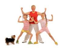Sportieve familie Stock Foto