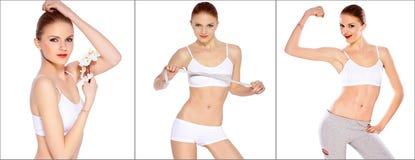 Sportieve gezonde vrouw Royalty-vrije Stock Fotografie