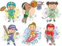 Sportieve jonge geitjes Royalty-vrije Stock Afbeelding