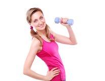 Sportieve jonge vrouw Stock Afbeeldingen