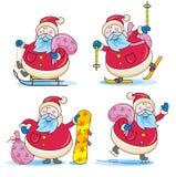 Sportieve Kerstman Stock Afbeeldingen