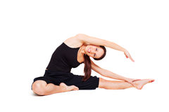 Sportieve levendige vrouw opleiding Royalty-vrije Stock Fotografie