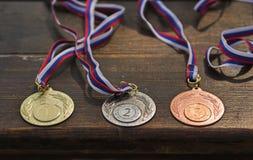 Sportieve medailles Royalty-vrije Stock Foto's