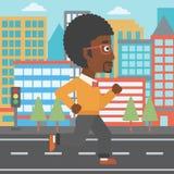 Sportieve mensenjogging Stock Foto's