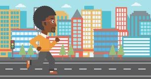 Sportieve mensenjogging Royalty-vrije Stock Afbeelding