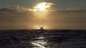 Sportieve mensenlooppas en sprongen in een meer bij zonsondergang in slo-mo stock footage