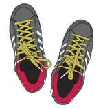 Sportieve schoenen royalty-vrije illustratie