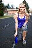 Sportieve vrouw Royalty-vrije Stock Afbeeldingen