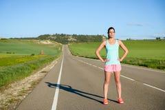 Sportieve vrouw openlucht Stock Foto's