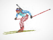 Sportif abstrait de biathlon illustration stock