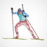 Sportif abstrait de biathlon illustration libre de droits