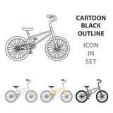 Sportif d'athlètes de cycliste de cycliste de BMX Vélo pour des sauts et des athlètes Icône simple de bicyclette différente dans  Images stock