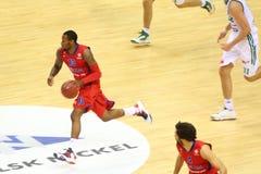 Sportif de CSKA Moscou (Russie, en rouge) Photos stock