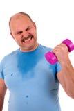 Sportif de poids excessif Photo libre de droits