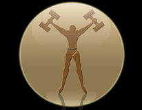 sportif de silhouette Image stock