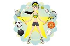 sportig flicka Arkivbild