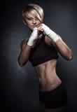 Sportig idrotts- kvinna Arkivfoto