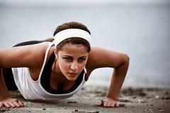 sportig kvinna Arkivbild