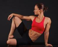 Sportig kvinna Arkivfoto