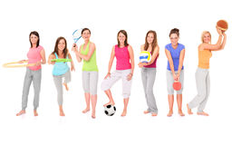 sportiga flickor Arkivbild