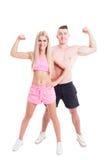 Sportigt aktivt barn och sunda par Arkivfoto