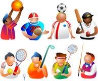sportigt folk stock illustrationer