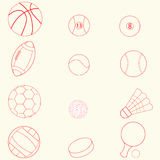 Sportikonenlinie Design Stockfotos