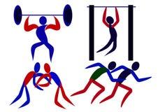 Sportinfographics 2 Arkivbilder