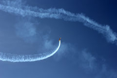 Sporting aerobatics show. Sporting plane aerobatics show photo Stock Photos