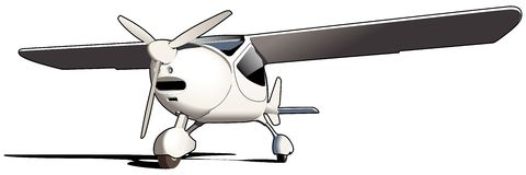 Sporting airplane. Vectorial image of modern sporting airplane isolated on white background Stock Photos