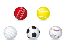 Sporting Balls. A vector collection of sporting balls Stock Photography