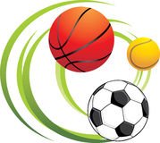Sporting balls Stock Photos