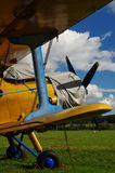 Sporting biplane aircraft 2 Royalty Free Stock Image
