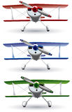 Sporting biplane front Royalty Free Stock Photos