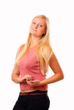 Sporting blonde woman Royalty Free Stock Photo
