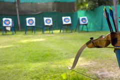 Sporting a bow and arrows Stock Photos