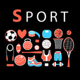 Sporting bright set Royalty Free Stock Photography