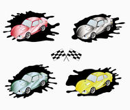 Sporting cars of different colors Royalty Free Stock Photos