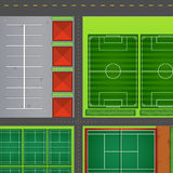 Sporting complex aerial view  Royalty Free Stock Photo