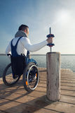 Sporting disabled man Stock Photography